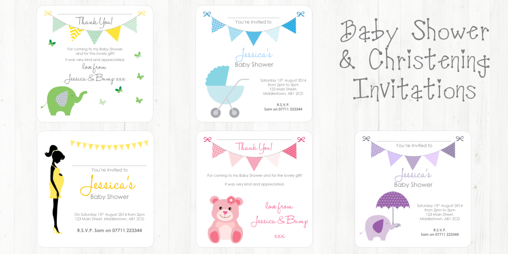 baby shower & christening invitations