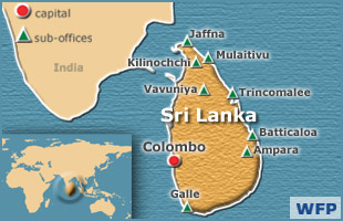 Sri Lanka map - World Food Programme