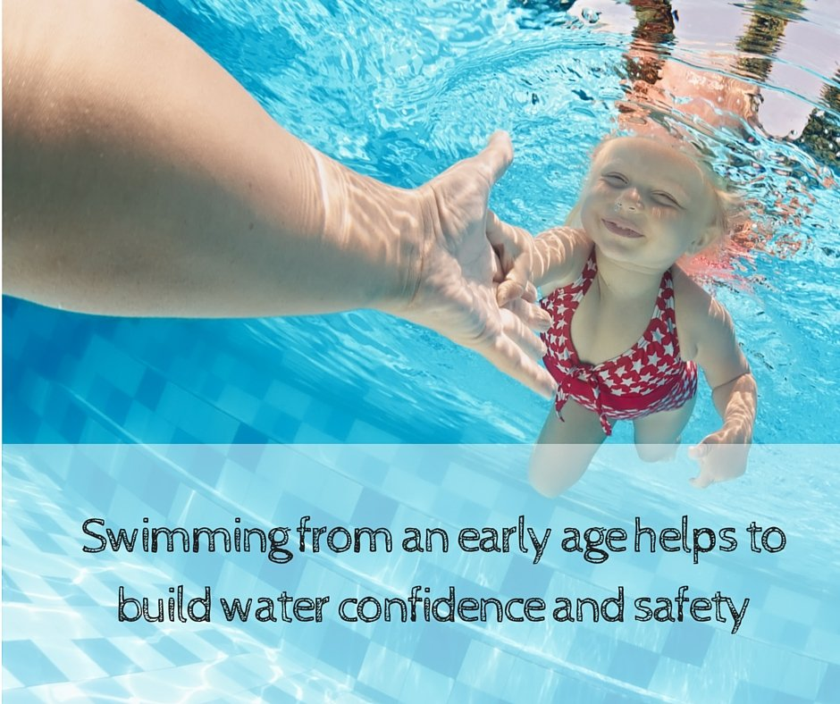 Swimming from an early age helps to build water confidence and safety