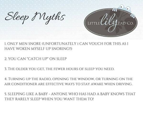 Sleep Myths