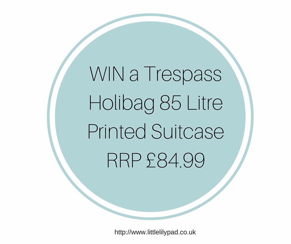 WIN a Trespass Holibag 85 Litre Printed Suitcase RRP £84.99
