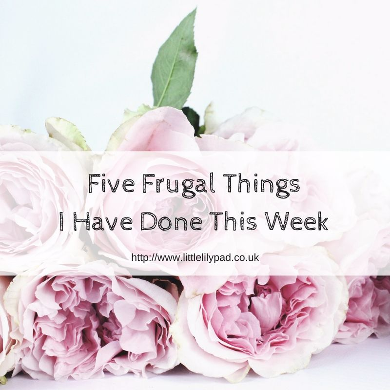 Five Frugal Things I Have Done This Week Jun 17