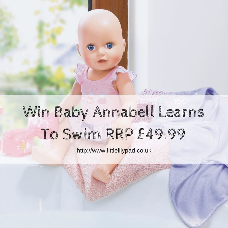 Win Baby Annabell Learns To Swim RRP £49.99