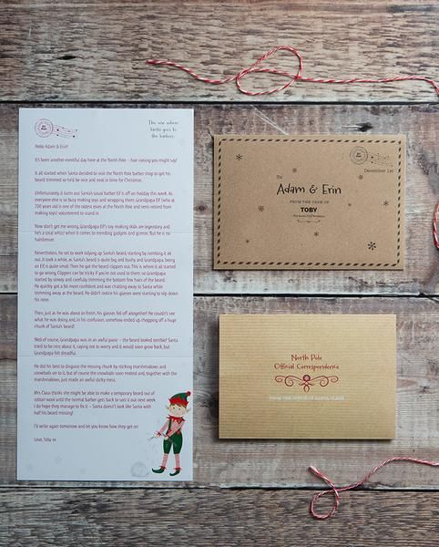 Elf for Christmas personalised letters