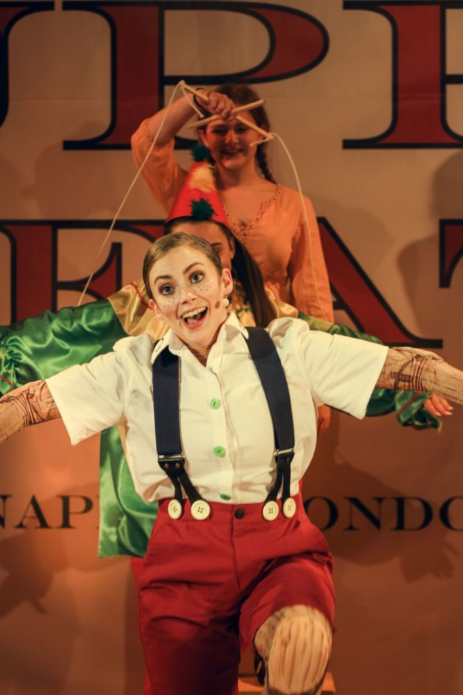 Pinocchio at The Old Rep this Christmas. Photo by Anda Latsa