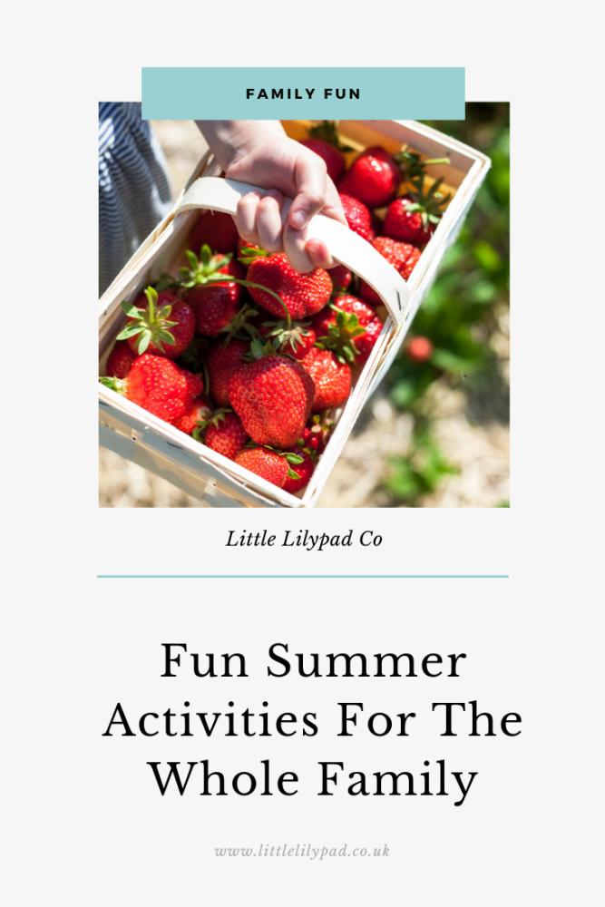 PIN - Fun Summer Activities