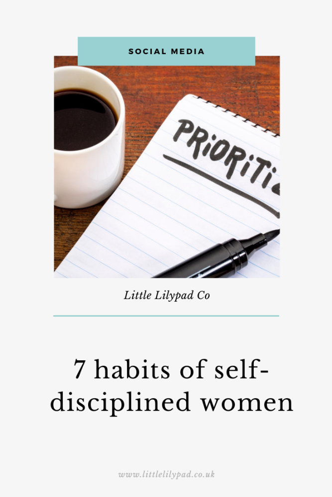 PIN - 7 habits of self-disciplined women
