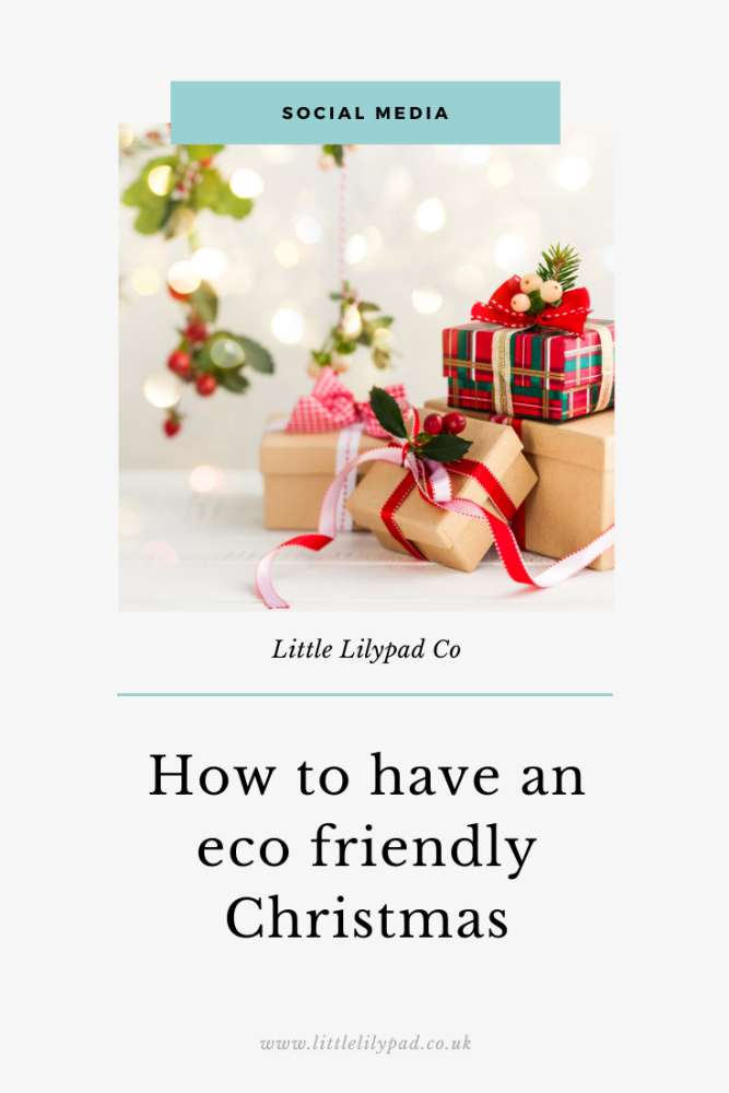 PIN - How to have an eco friendly Christmas