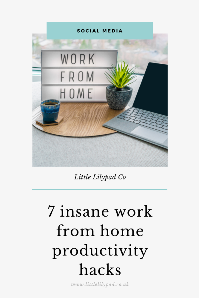 PIN - 7 insane work from home productivity hacks