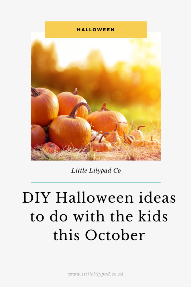 PIN - DIY Halloween ideas to do with the kids this October