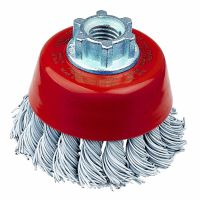 Laminated Steel Twist Knot Cup Brush 65mm
