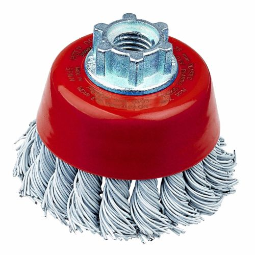 <!-- 020 -->Stainless Steel Twist Knot Cup Brush 75mm