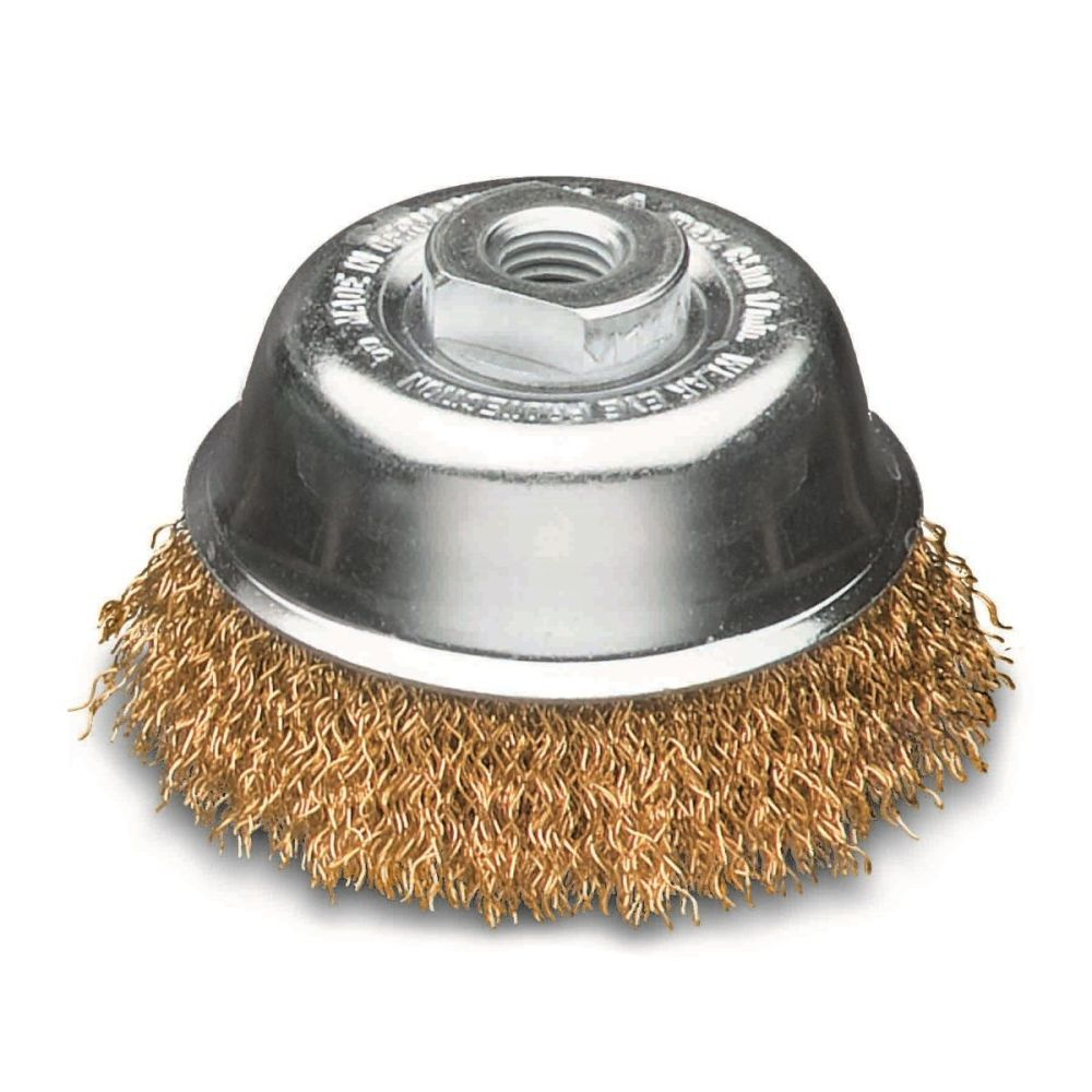 <!-- 010 -->Brass Wire Cup Brush 60mm (Industrial Spec)