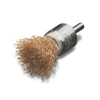 <!-- 010 -->Brass Wire End Brush 23mm with 6mm Arbor