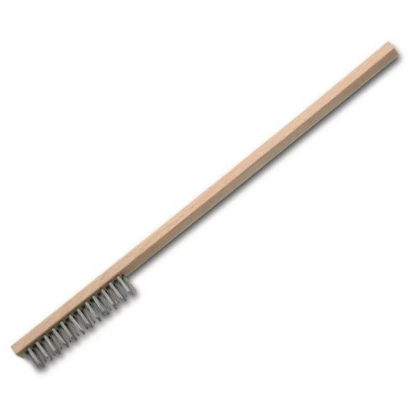 <!-- 045 -->Steel Wire Brush 3 Row with Long Reach Handle