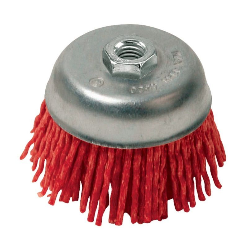 <!-- 010 -->Abrasive Nylon Cup Brush 100mm x M14