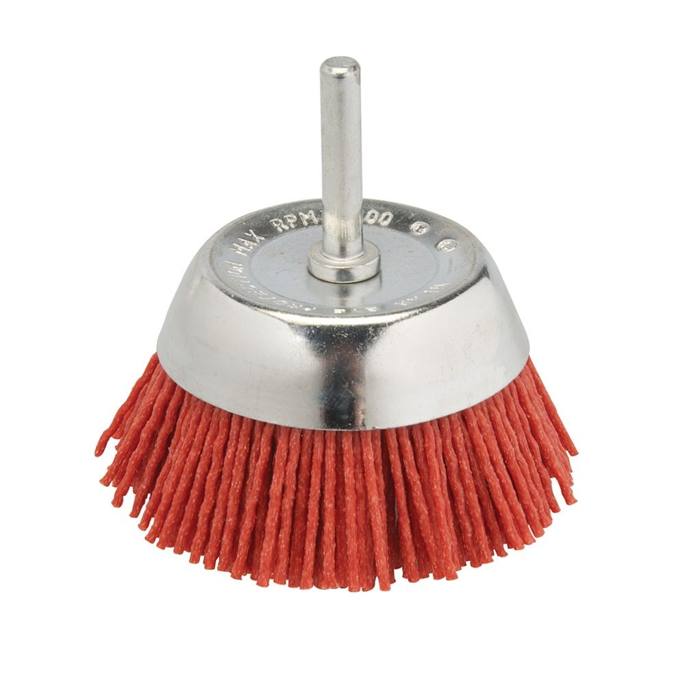 <!-- 015 -->Nylon Filament Cup Brush 75mm with 6mm Arbor