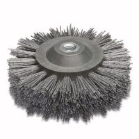 <!-- 010 -->Abrasive Nylon Wheel Brush 140mm x 58mm - M14