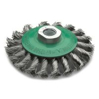<!-- 010 -->Stainless Steel Twist Knot Bevel Brush 100mm