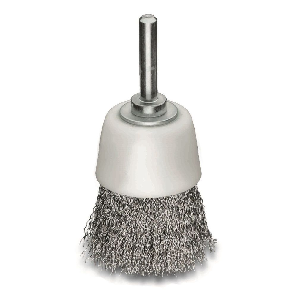 <!-- 015 -->Stainless Steel Wire Cup Brush 50mm x 6mm Arbor