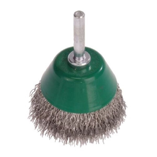 <!-- 025 -->Stainless Steel Wire Cup Brush 70mm with 6mm Arbor