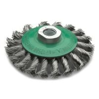 Stainless Steel Twist Knot Bevel Brush 100mm