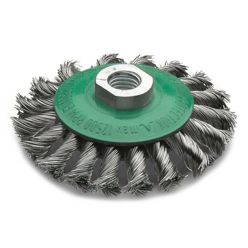 <!-- 015 -->Stainless Steel Twist Knot Bevel Brush 115mm
