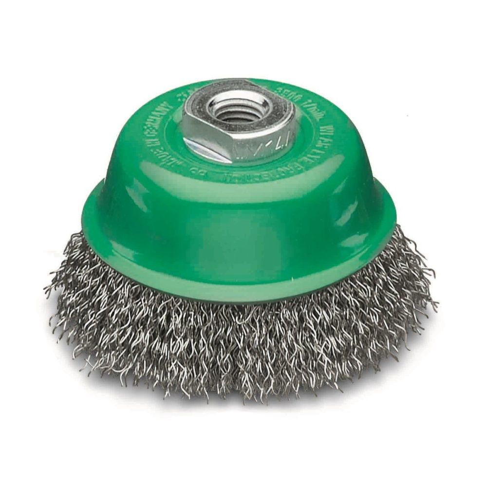 <!-- 035 -->Stainless Steel Wire Cup Brush 75mm x M14