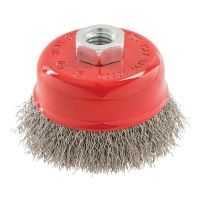 <!-- 038 -->Stainless Steel Wire Cup Brush 100mm x M14