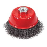 <!-- 025 -->Steel Wire Cup Brush 100mm x M14