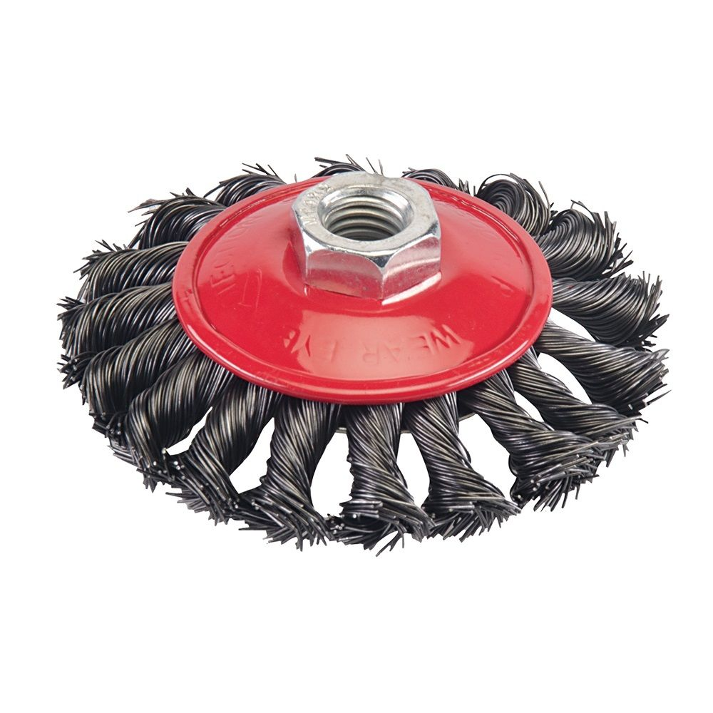 <!-- 040 -->Twist Knot Wire Bevel Brush 100mm x M14