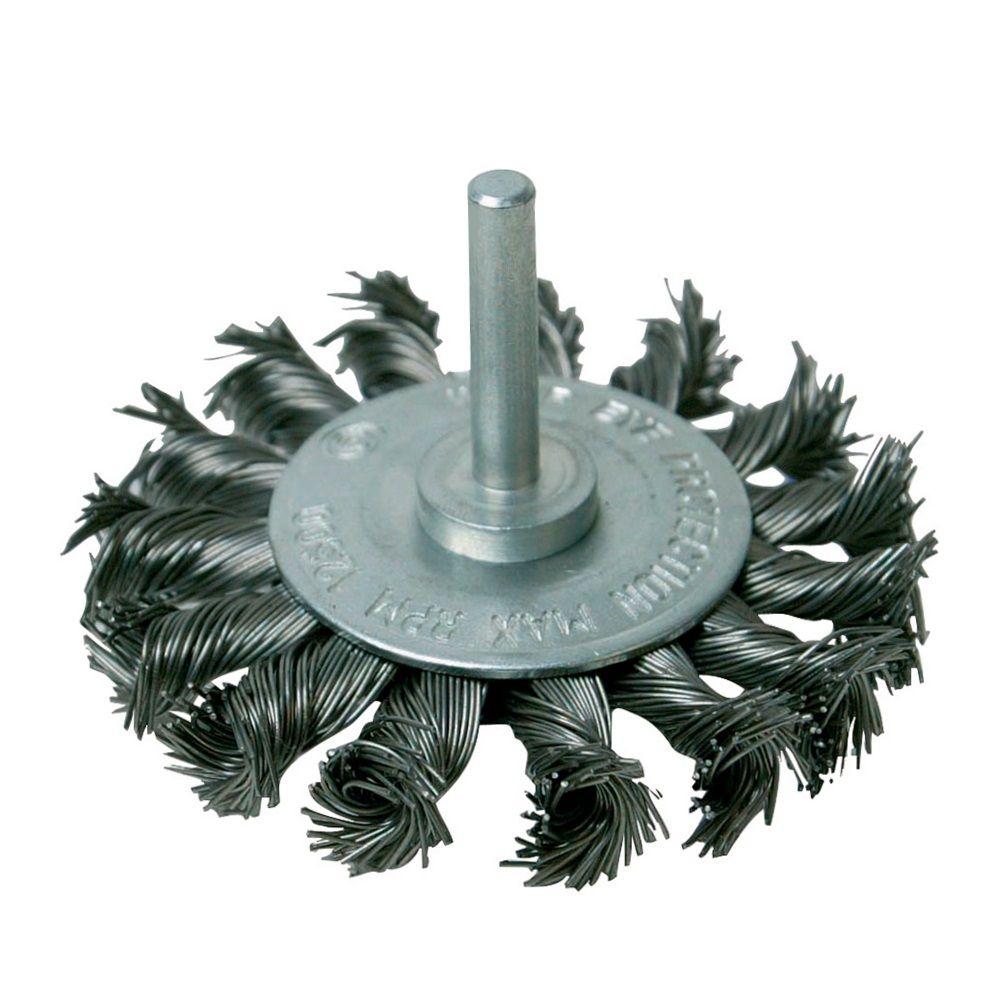 <!-- 065 -->Twist Knot Wire Wheel 75mm