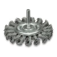<!-- 085 -->Twist Knot Stainless Wire Wheel 75mm with 6mm Arbor