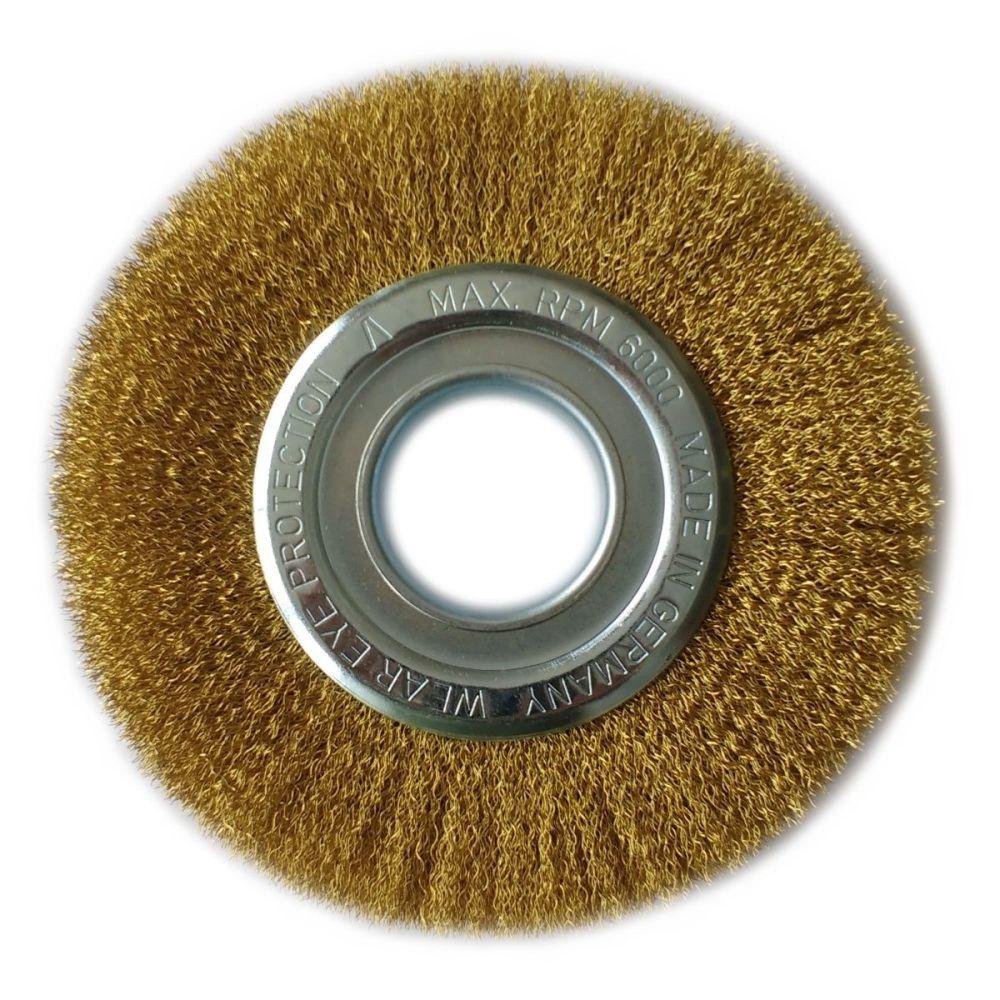 Brass Rotary Wire Brush 100mm
