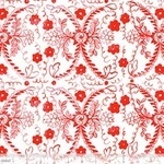Blend by Molly Hatch Tea garden -heritage floral  in red