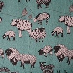 Hokkoh Baa….Baaaaa... Sheep on  LINEN mix