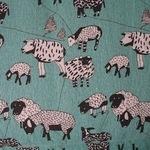 Hokkoh Baa….Baaaaa... Sheep on  LINEN mix