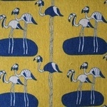 Hokkoh Japanese regal flamingos  linen mix