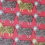 Hokkoh Japanese wooly wooly sheep on red