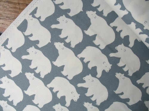 Sevenberry  strolling polar bear on grey