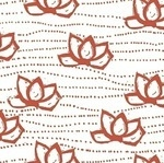 Lotta Jansdotter Lucky Kamala flower in coral