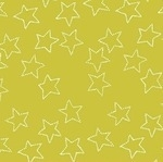 Lotta Jansdotter Stella - star in citrus lime