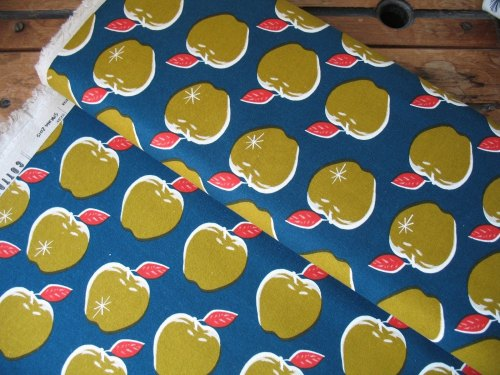 Melody Miller Picnic- apples on teal and mustard
