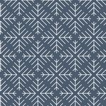 Jeni Barker Cusiosities  Caught Snowflakes Navy