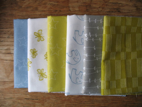 Mini Cloth stack softly softly Baby blue and yellow