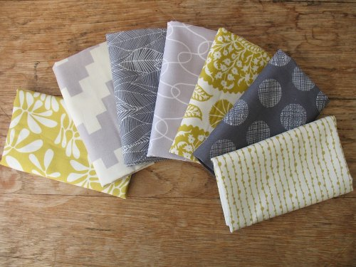 Mini Cloth stack grey and Charteuse part 7