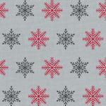 Westfalenstoffe Bergen Christmas snowflakes on grey