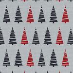 Westfalenstoffe Bergen simply Christmas trees on grey