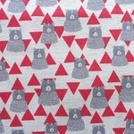 kokka bears in triangular mountains in red