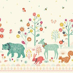 Bethan Janine Nature trail border print